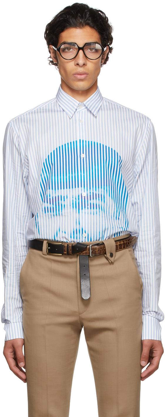 Blue & White Stripes Scream Shirt