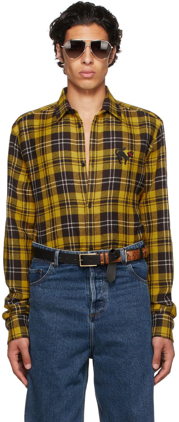 Yellow Wool Tartan Shirt