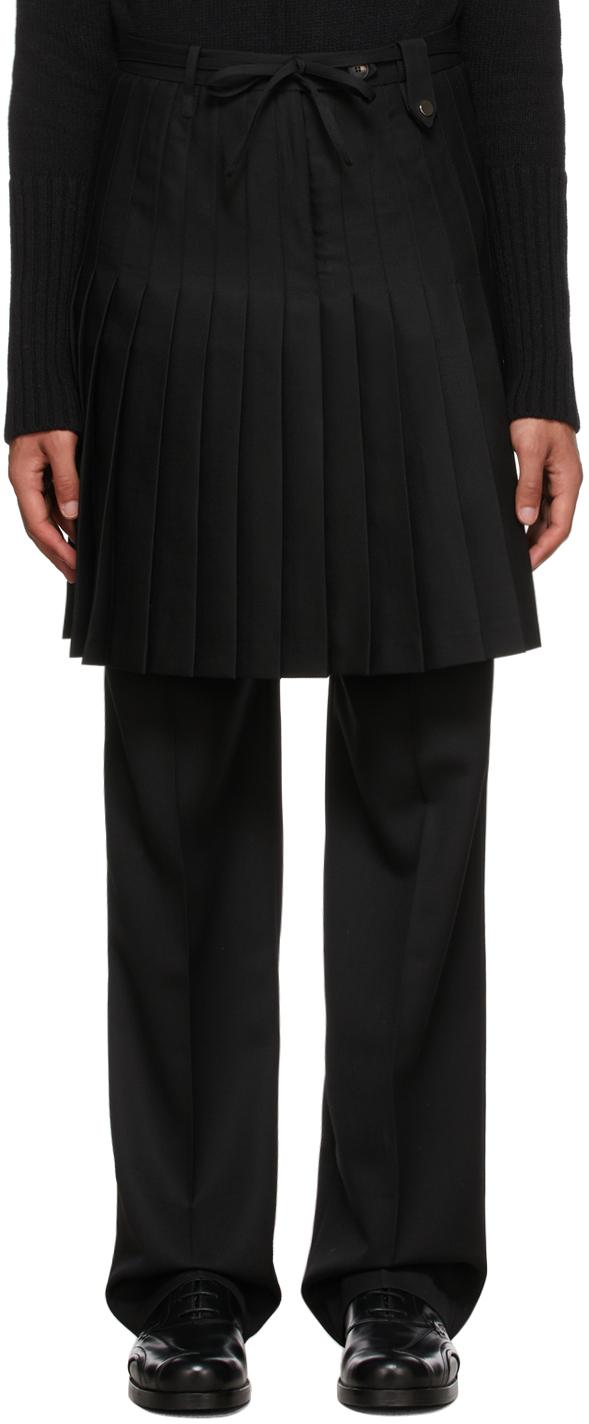 Black Wool Euphoria Skirt