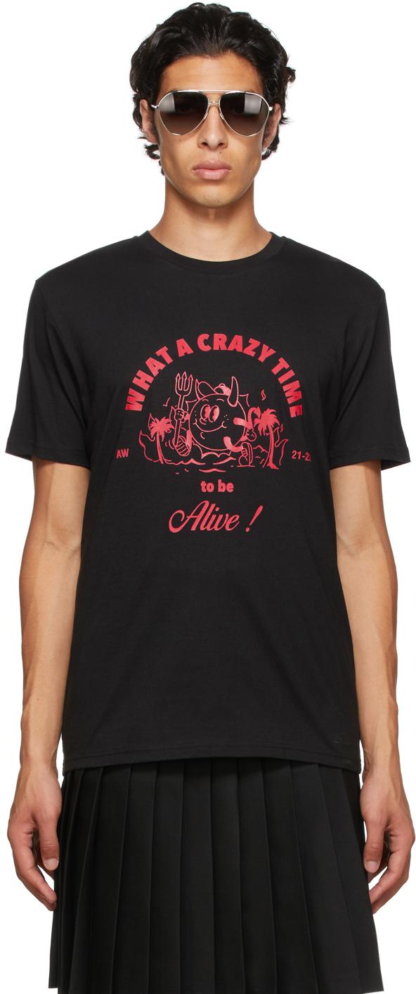 Black 'Crazy Time' T-Shirt