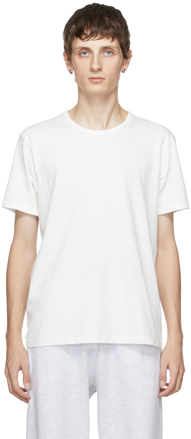 Two-Pack White Cotton T-Shirts
