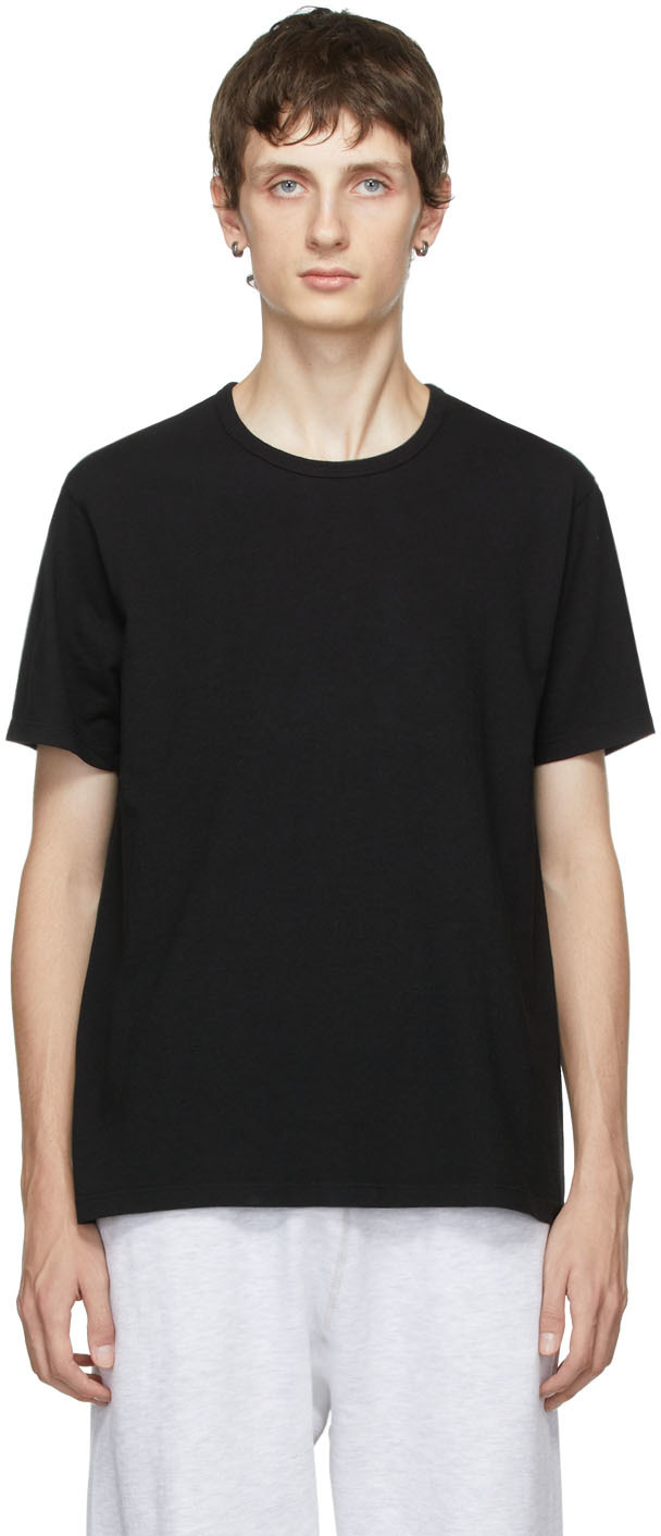 Two-Pack Black Cotton T-Shirts