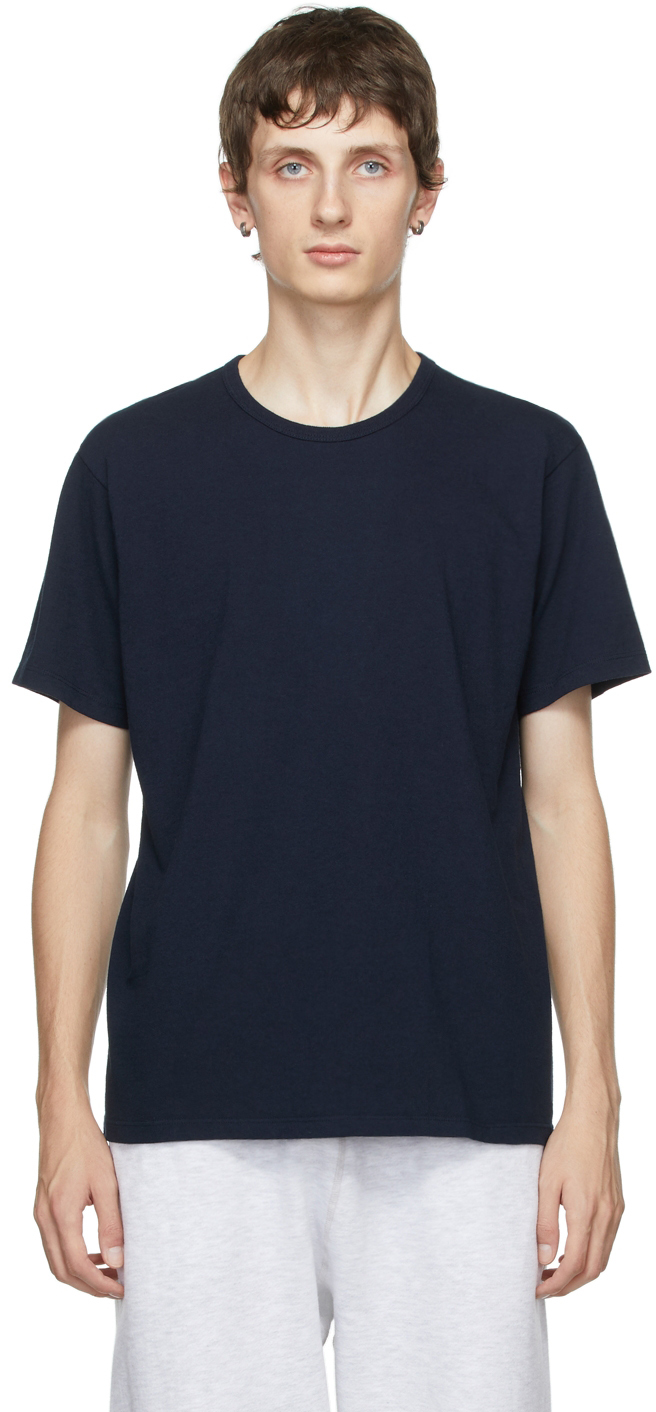 Two-Pack Navy Cotton T-Shirts