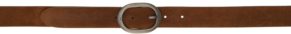 Brown Suede Mik Studded Belt