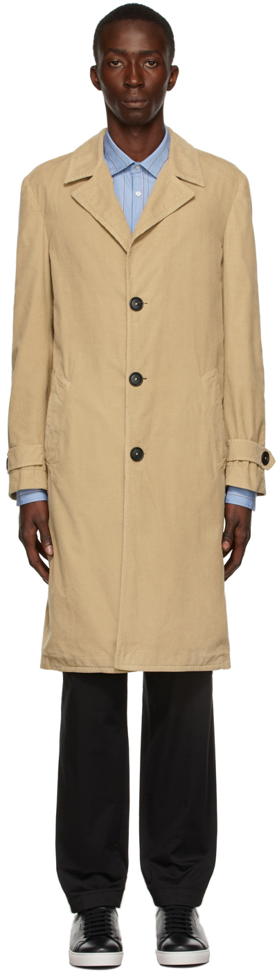 Tan Needlecord Rain2 Coat