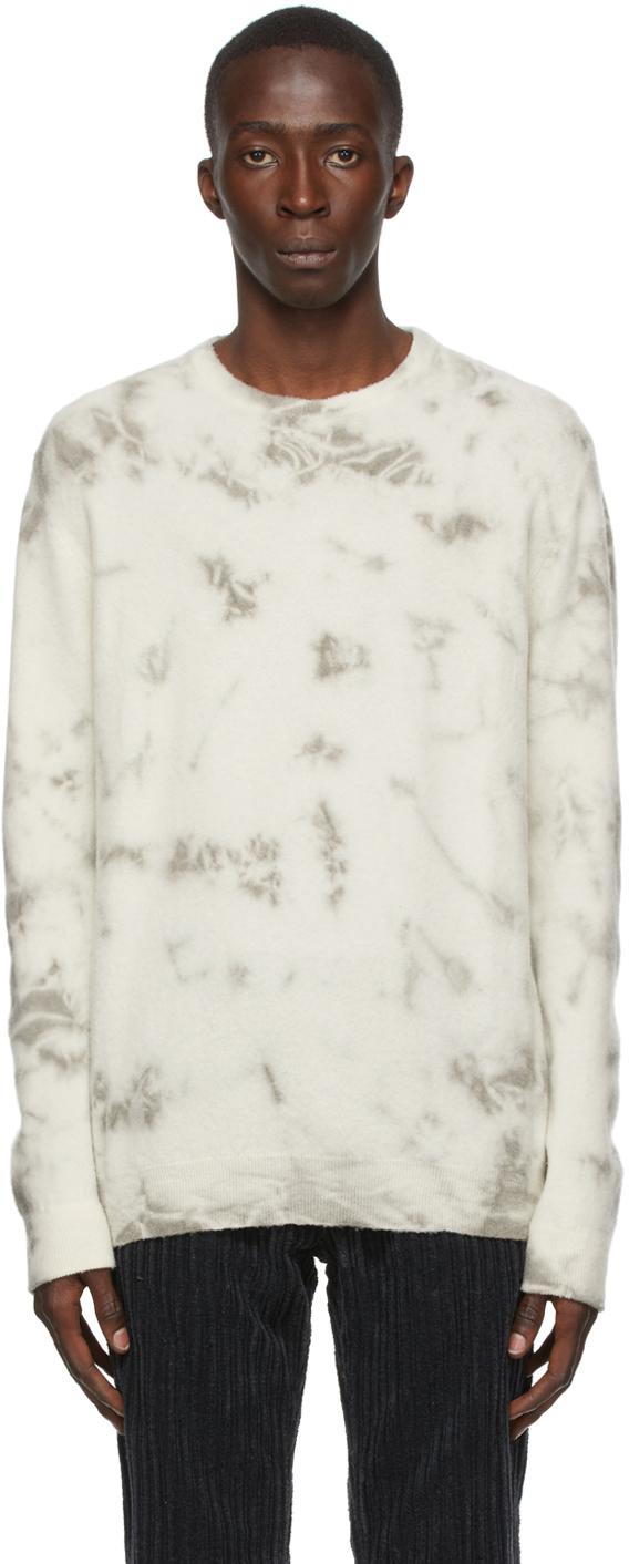 Off-White & Grey Cashmere Kane Sweater