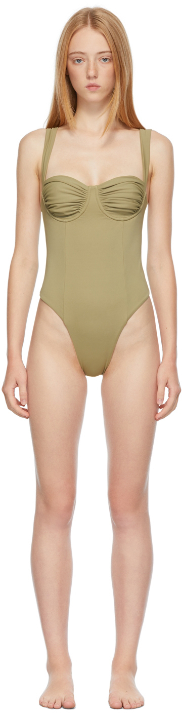 Khaki 'The Vision' One-Piece Swimsuit