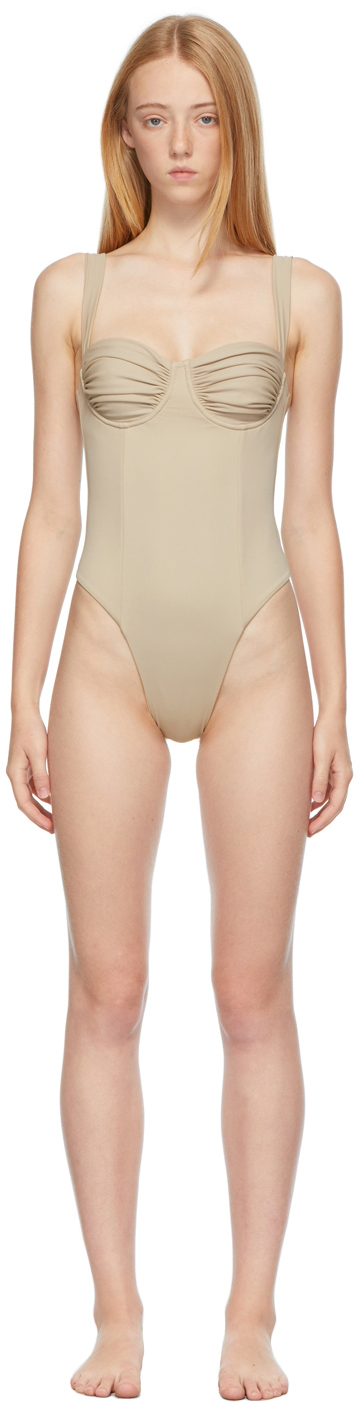 Beige 'The Vision' One-Piece Swimsuit