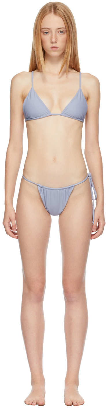 SSENSE Exclusive Blue 'The Palmera' Bikini