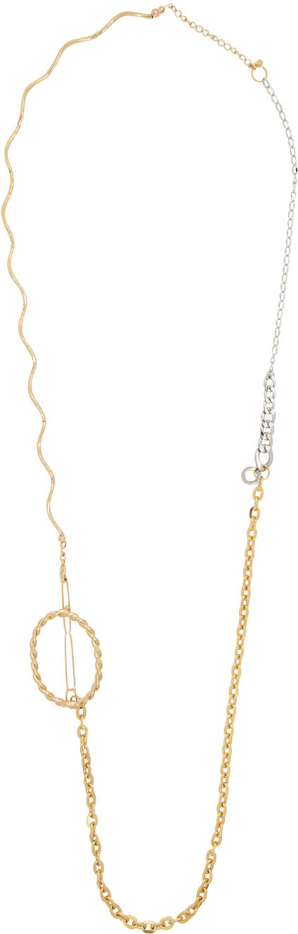 Gold & Silver Freestyle Extra Long Necklace