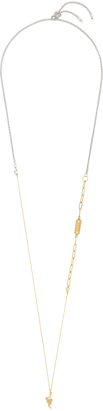 Gold & Silver Mix Extra Long Necklace