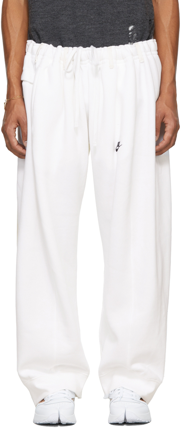 SSENSE Exclusive White Overjogging Jeans Lounge Pants