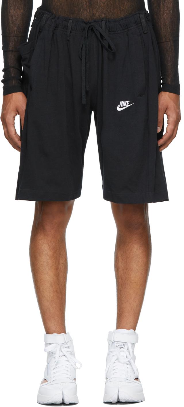 SSENSE Exclusive Black Overjogging Jeans Shorts