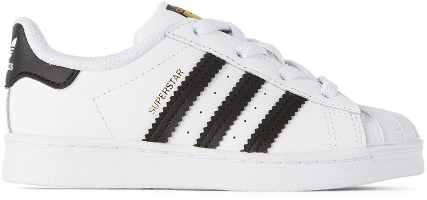 adidas Kids 白色 Superstar 婴儿运动鞋