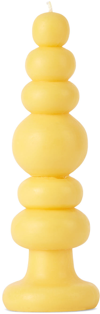 Yellow Knubby Candle