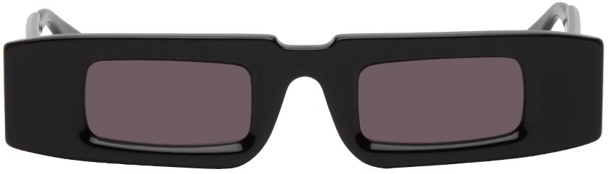 Black Thick Rectangular Sunglasses