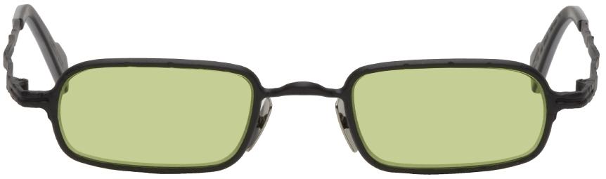 Black Thin Rectangular Sunglasses