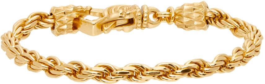 Gold French Rope Bracelet