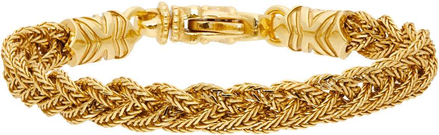Gold Braided Bracelet