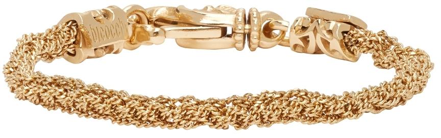 Gold Crocheted Bracelet