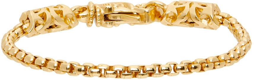 Gold Round Chain Bracelet