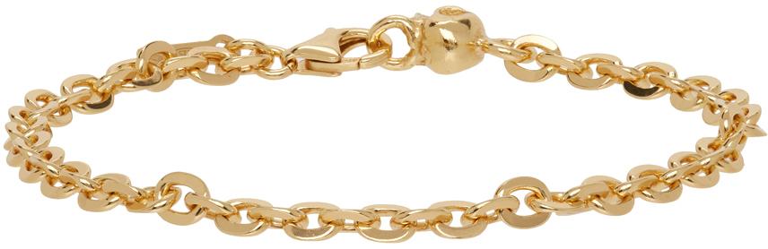 SSENSE Exclusive Gold Skull Chain Bracelet