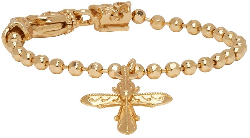 Gold Cross Charm Disco Chain Bracelet