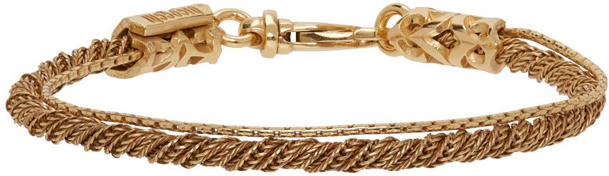 SSENSE Exclusive Gold Rope Bracelet