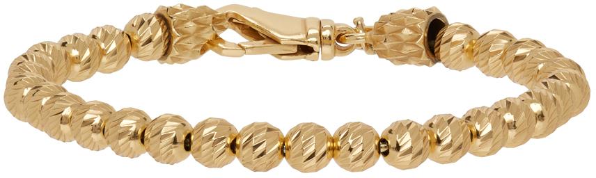 SSENSE Exclusive Gold Striped Ball Bracelet