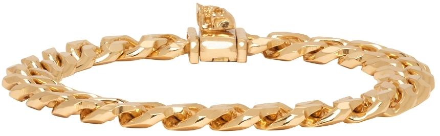 Gold Edge Chain Bracelet