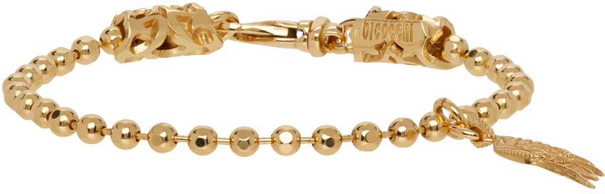 SSENSE Exclusive Gold Wing Charm Bracelet
