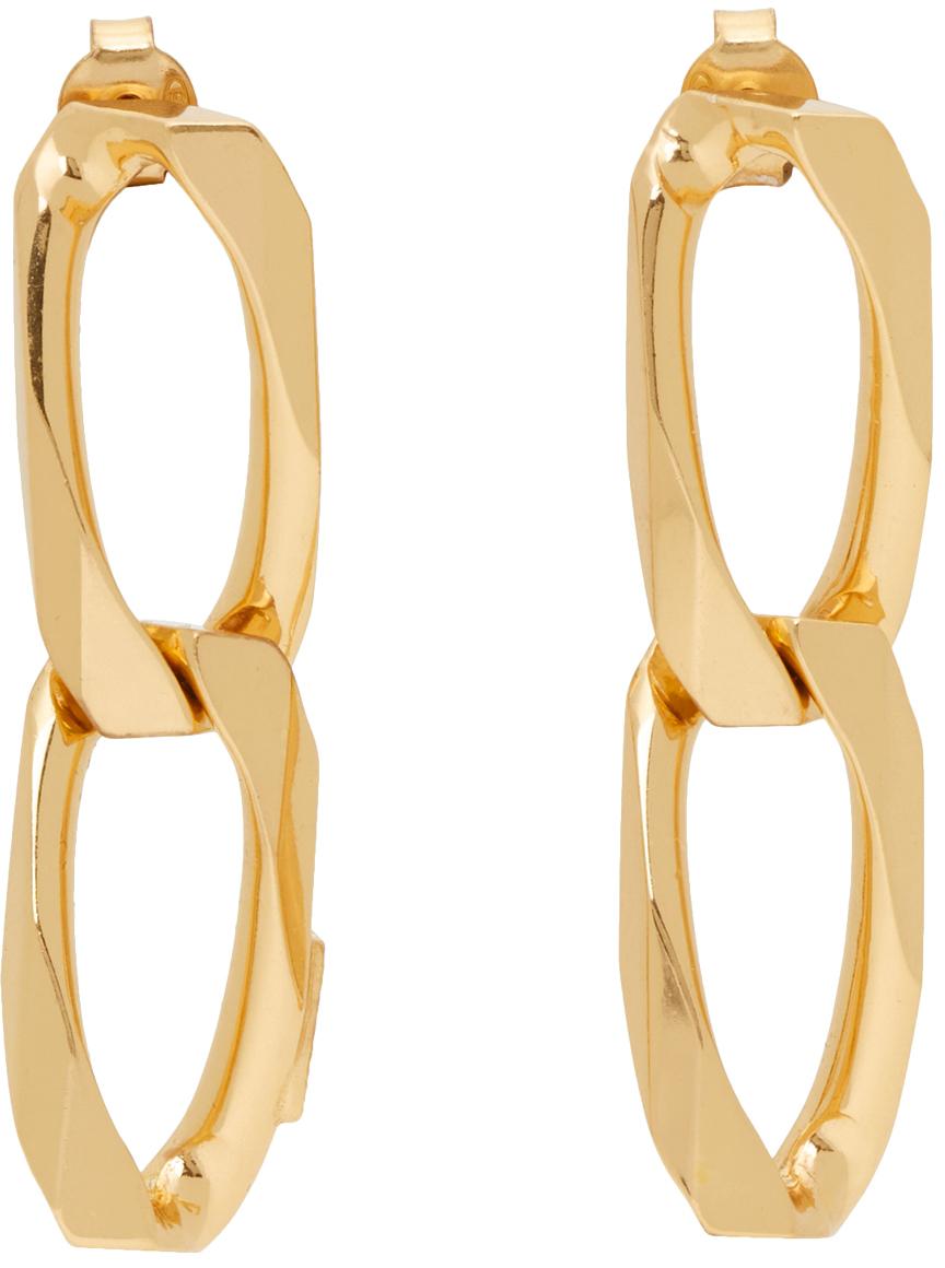 Gold Link Earring