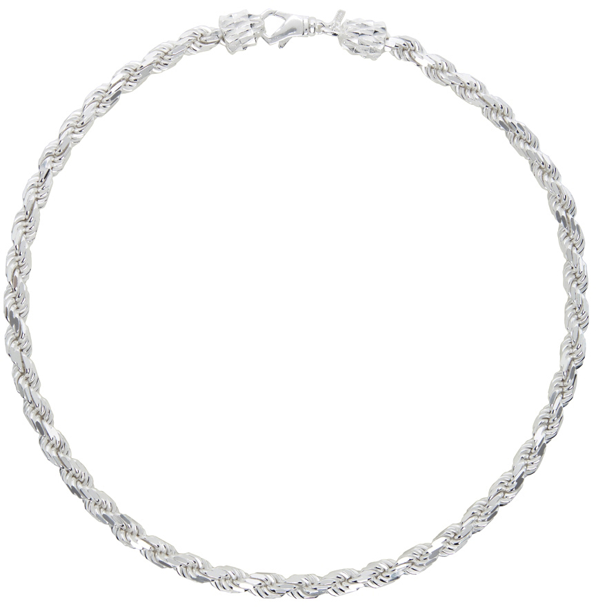 SSENSE Exclusive Silver French Rope Necklace