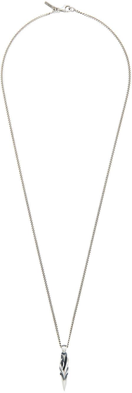 SSENSE Exclusive Silver Dagger Pendant Necklace