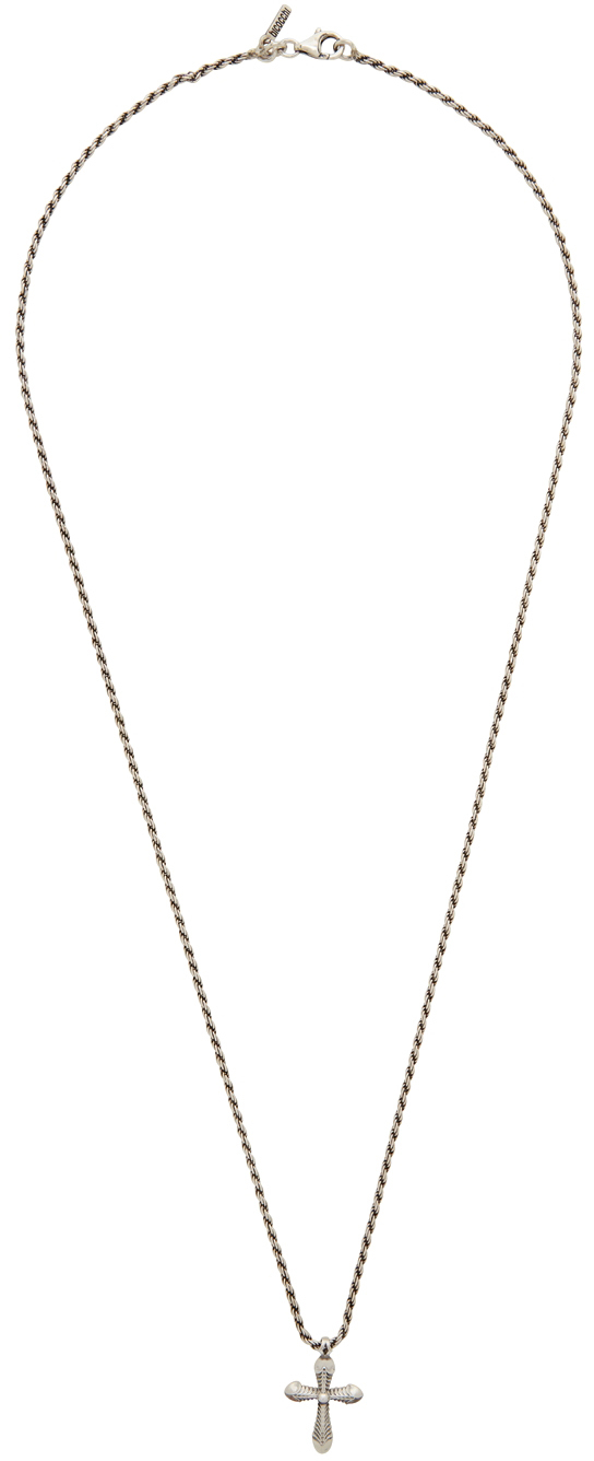 SSENSE Exclusive Silver Cross Necklace