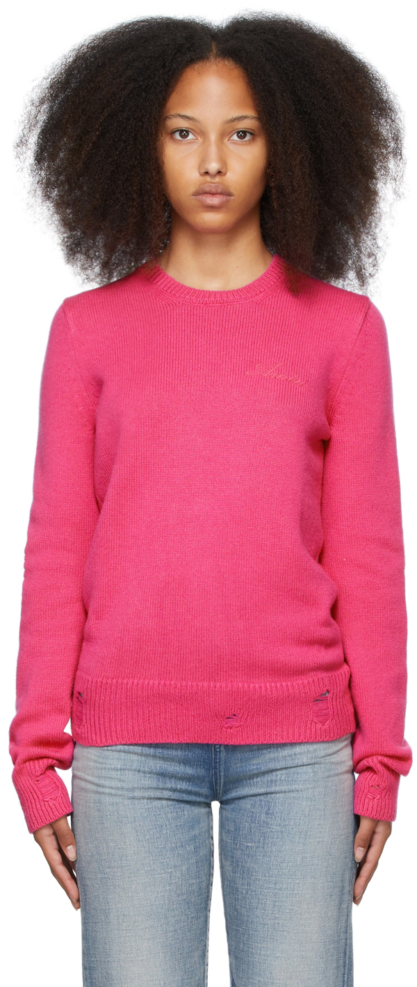 Pink Cashmere Destroyed & Repaired Sweater