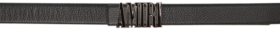 Black Enamel Logo Buckle Belt