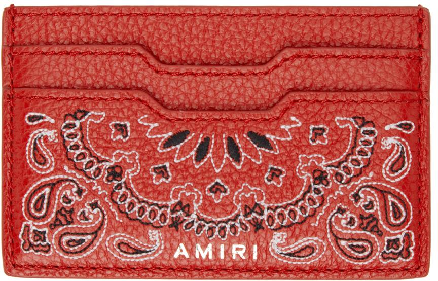 Red Bandana Card Holder