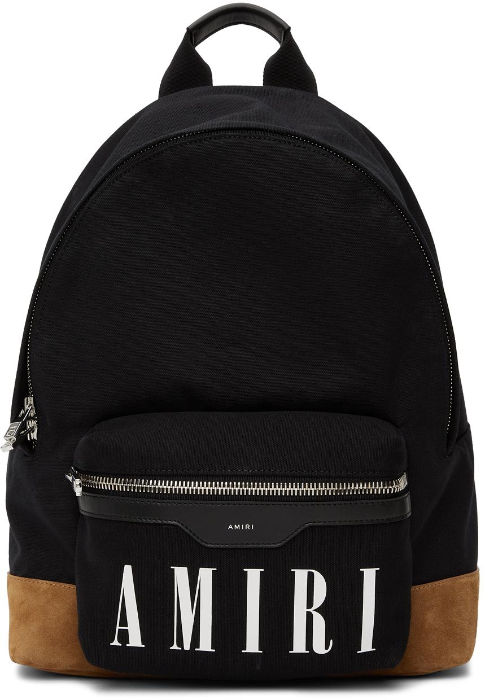 Black & Tan Canvas Classic Backpack