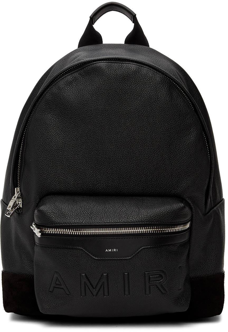 Black Embossed Classic Backpack