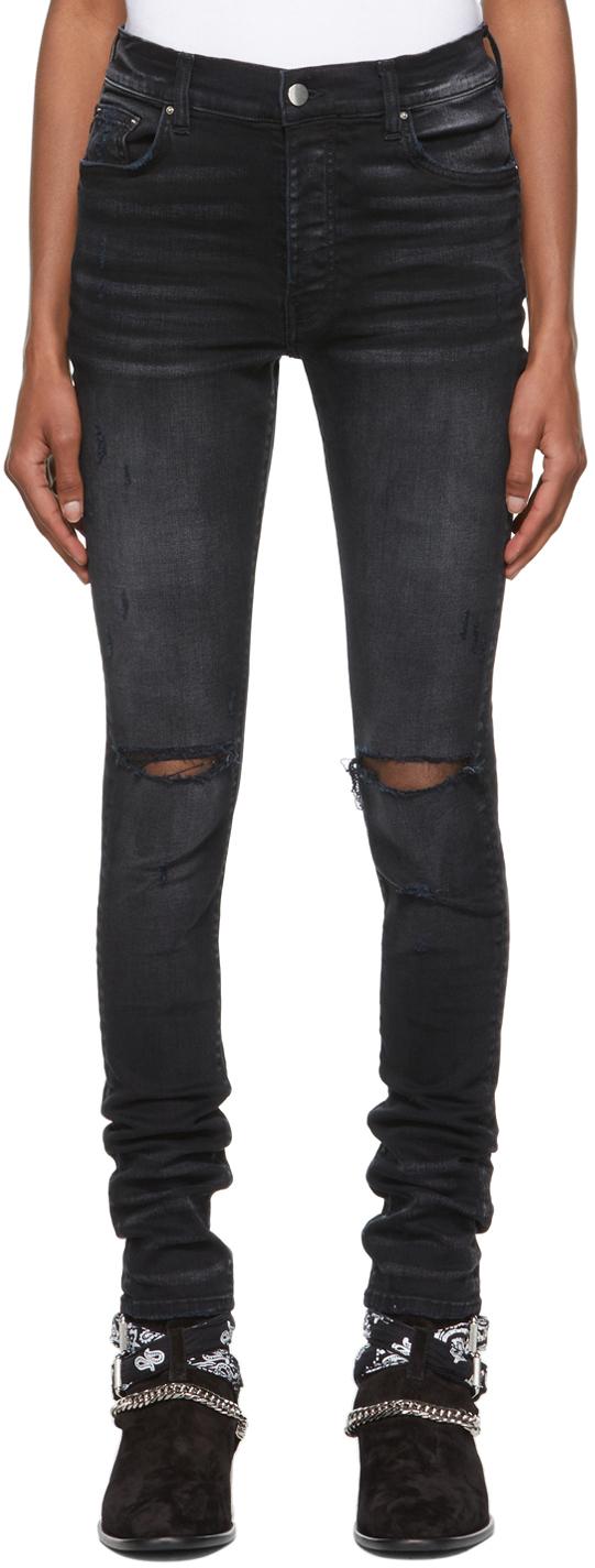 AMIRI Black Slash Jeans