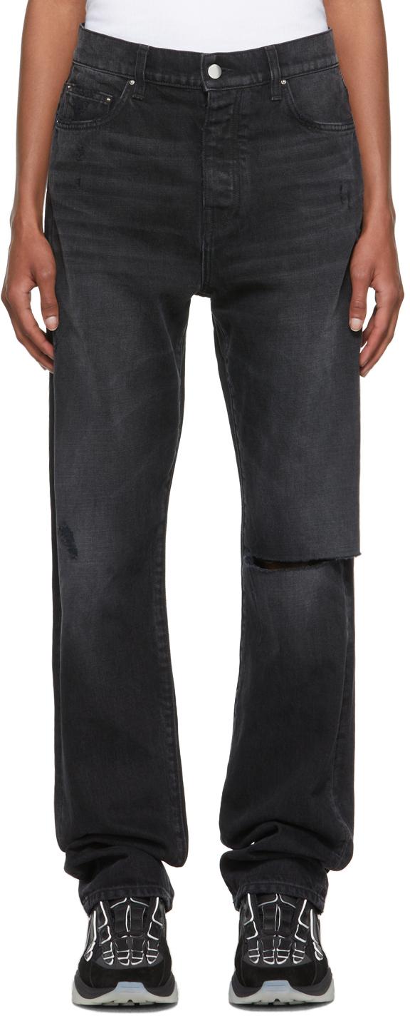 AMIRI Black Straight Fit Slit Jeans