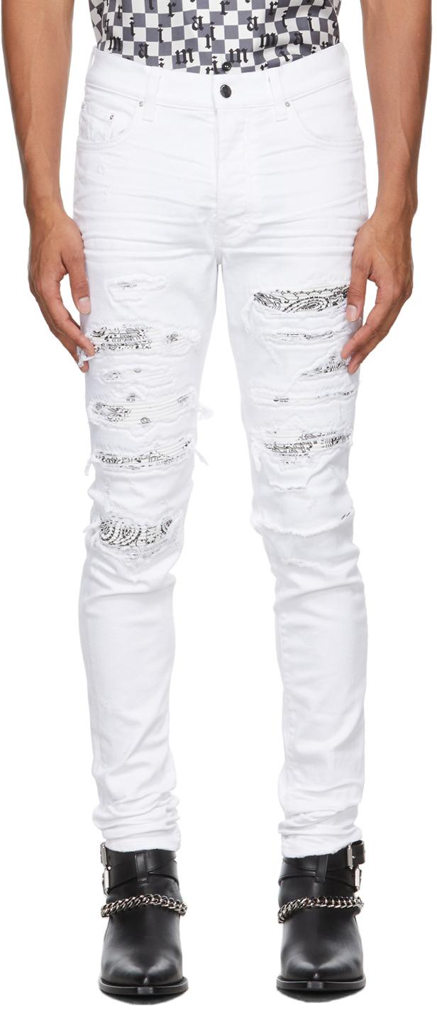White Bandana Thrasher Jeans