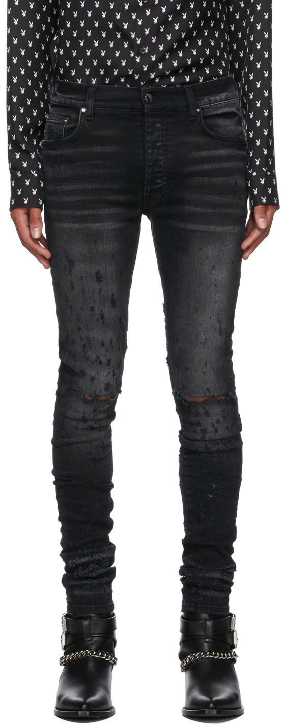 AMIRI Black Distressed Jeans