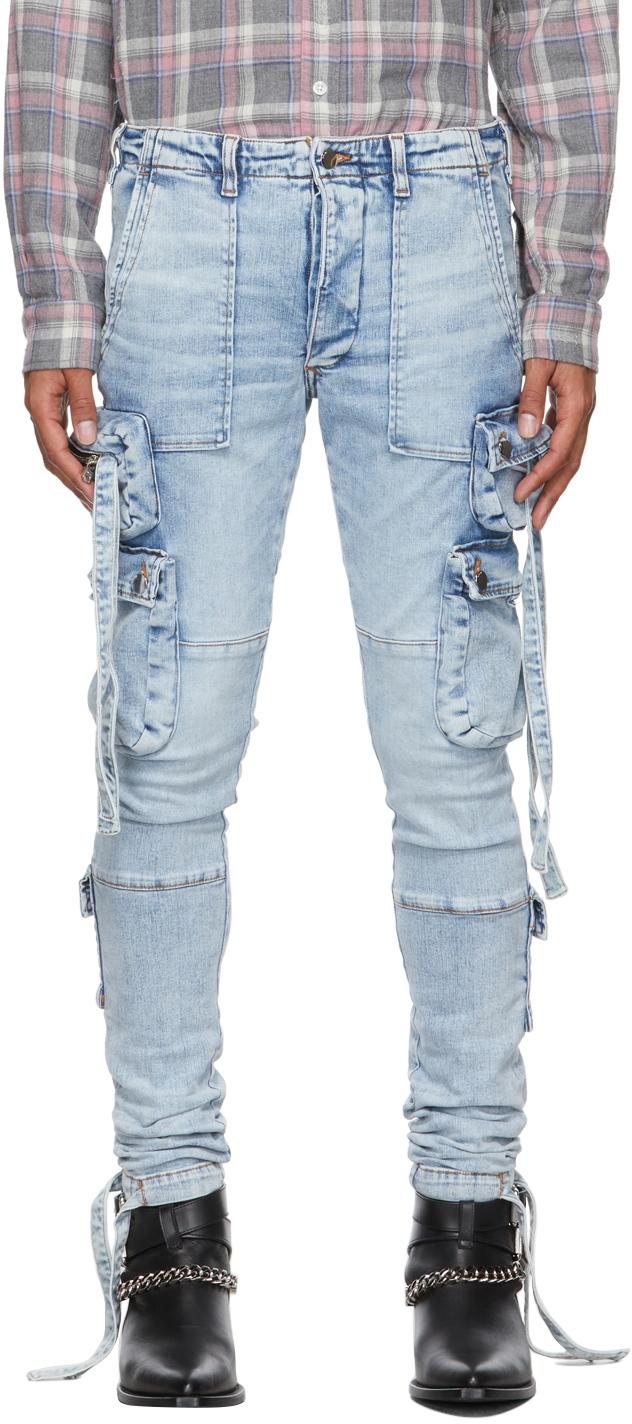 AMIRI Blue Tactical Cargo Jeans