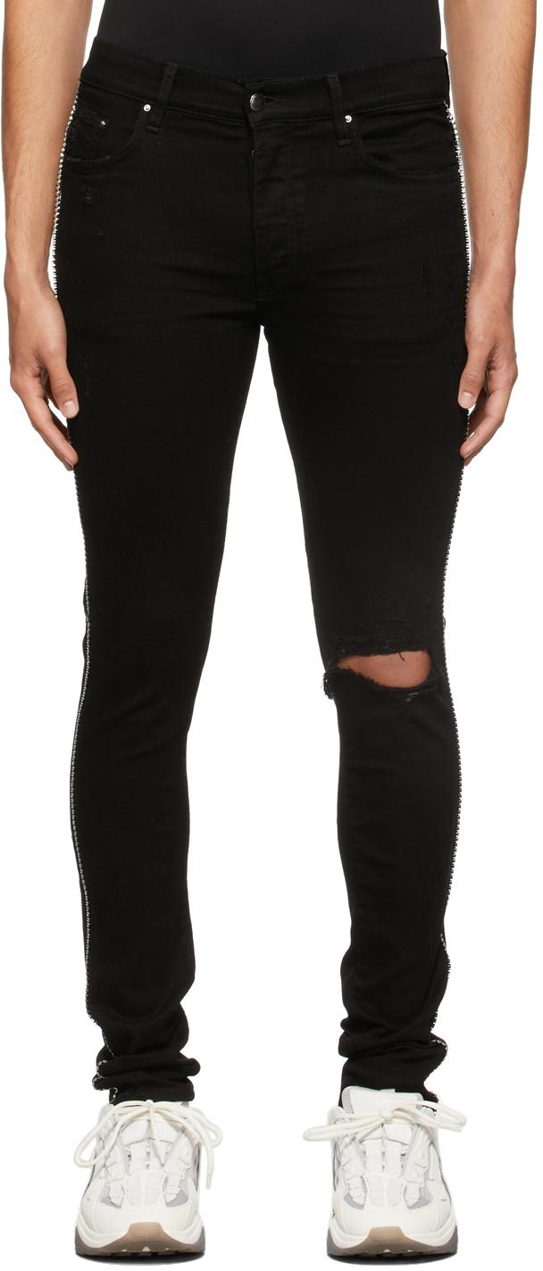 AMIRI Black Crystal Track Jeans