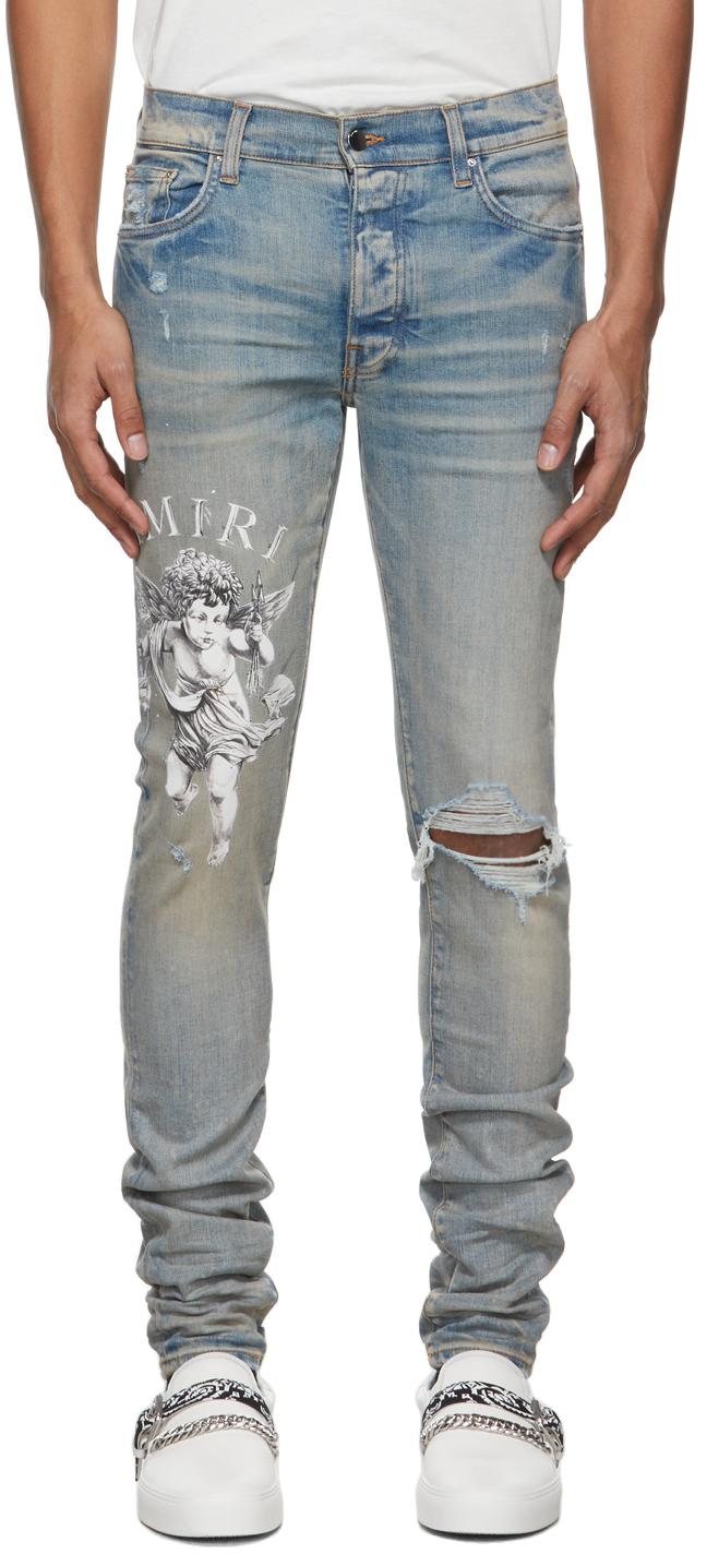 AMIRI Blue Cherub Jeans