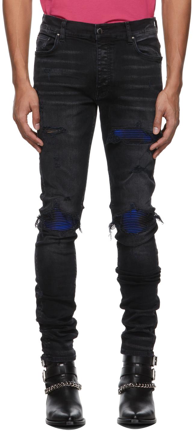 AMIRI Black Plaid MX1 Jeans