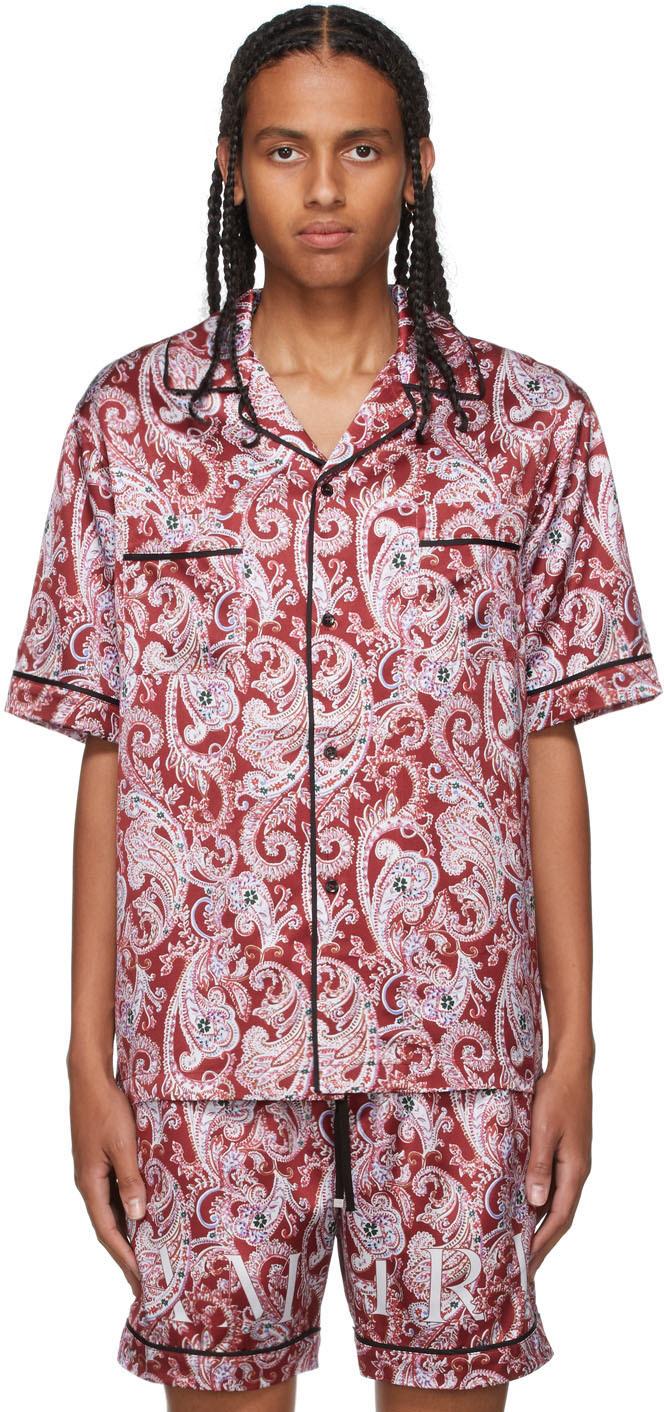 Red Paisley PJ Short Sleeve Shirt