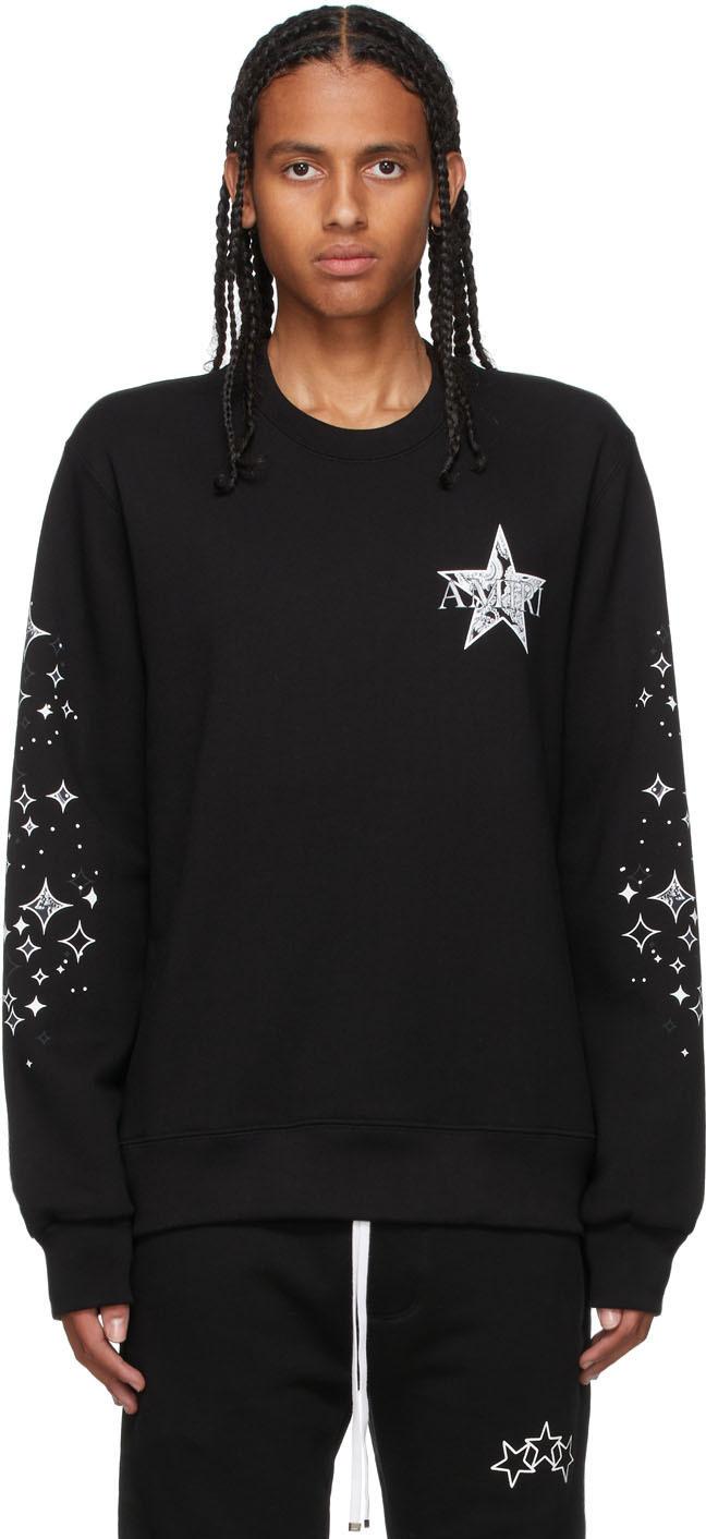 Black Paisley Star Sweatshirt